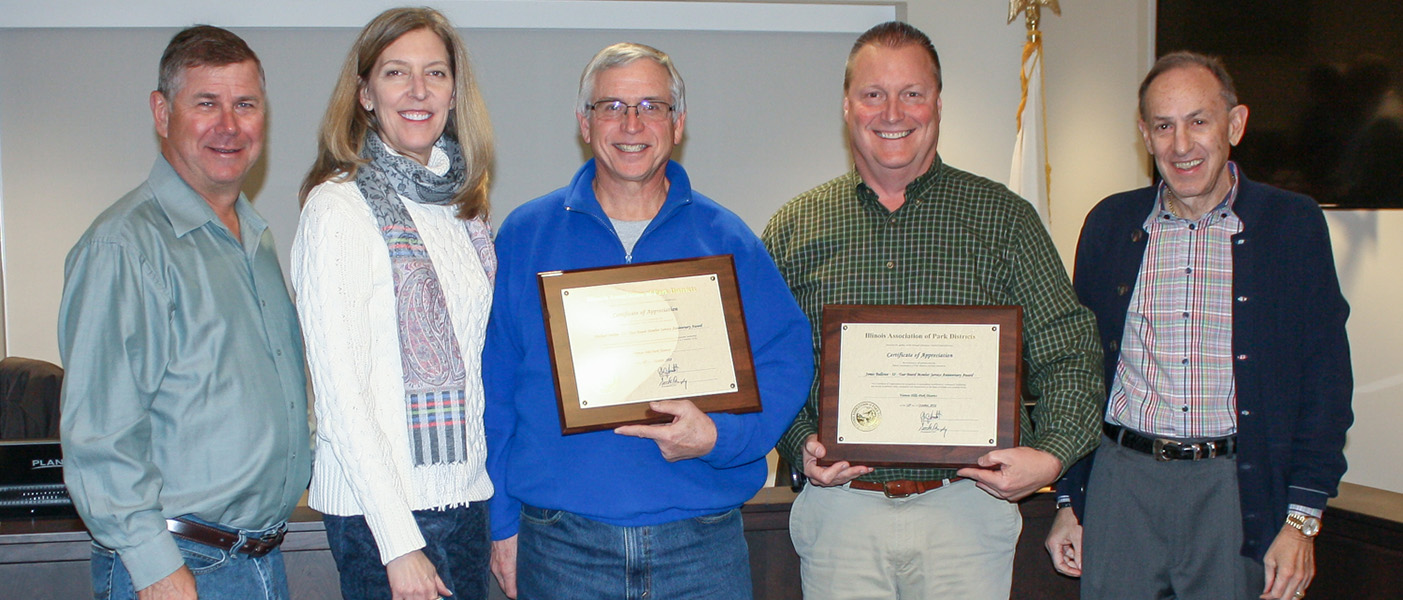 Park Board Members Recognized for Service
